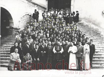 Arianesi a Montevergine per il  Precetto pasquale - anno 1957